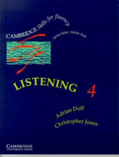 9780521367509: Listening 4 Advanced Student's Book: Advanced Level 4 (Cambridge Skills for Fluency)