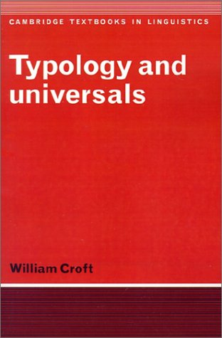 9780521367653: Typology and Universals