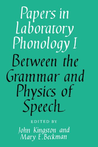 9780521368087: Papers in Laboratory Phonology I: Between the Grammar and Physics of Speech