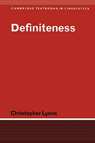 9780521368353: Definiteness (Cambridge Textbooks in Linguistics)