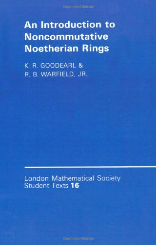 9780521369251: An Introduction to Noncommutative Noetherian Rings (London Mathematical Society Student Texts)