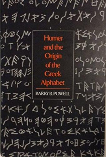9780521371575: Homer and the Origin of the Greek Alphabet