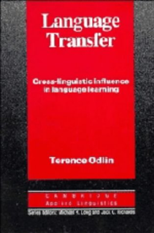 9780521371681: Language Transfer: Cross-Linguistic Influence in Language Learning (Cambridge Applied Linguistics)