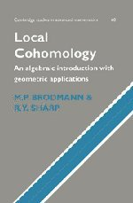 9780521372862: Local Cohomology: An Algebraic Introduction with Geometric Applications (Cambridge Studies in Advanced Mathematics)