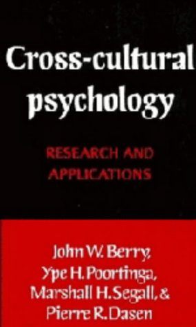 9780521373876: Cross-Cultural Psychology: Research and Applications