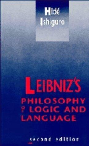9780521374286: Leibniz's Philosophy of Logic and Language