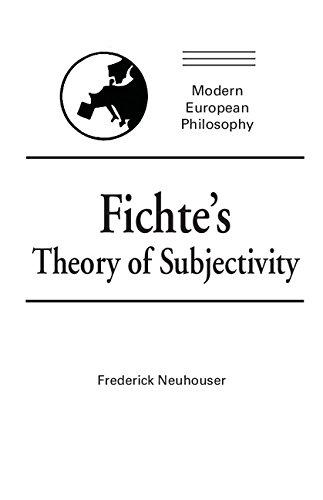 9780521374330: Fichte's Theory of Subjectivity (Modern European Philosophy)