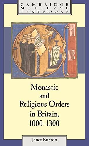 9780521374415: Monastic and Religious Orders in Britain, 1000-1300 (Cambridge Medieval Textbooks)