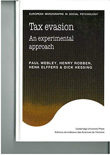 9780521374590: Tax Evasion: An Experimental Approach (European Monographs in Social Psychology)