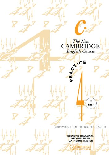 9780521376648: The New Cambridge English Course 4 Practice book with key