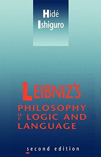 9780521377812: Leibniz's Philosophy of Logic and Language