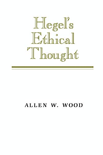 9780521377829: Hegel's Ethical Thought Paperback