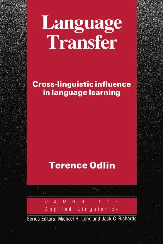 9780521378093: Language Transfer: Cross-linguistic Influence in Language Learning (Cambridge Applied Linguistics)