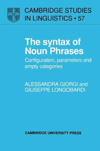9780521379021: The Syntax of Noun Phrases: Configuration, Parameters and Empty Categories (Cambridge Studies in Linguistics)