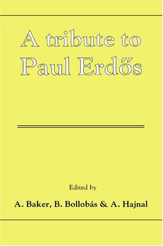 9780521381017: A Tribute to Paul Erdos Hardback