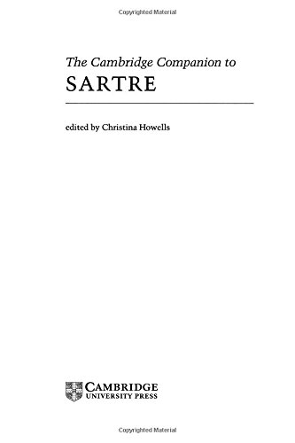 9780521381147: The Cambridge Companion to Sartre (Cambridge Companions to Philosophy)