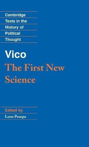 9780521382908: Vico: The First New Science (Cambridge Texts in the History of Political Thought)
