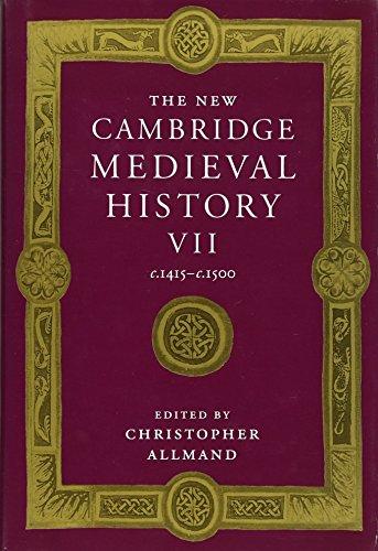 9780521382960: The New Cambridge Medieval History: Volume 7, c.1415-c.1500