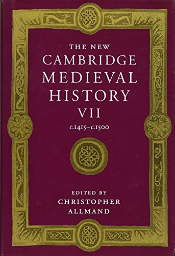 9780521382960: The New Cambridge Medieval History: Volume 7, c.1415-c.1500