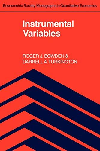 9780521385824: Instrumental Variables (Econometric Society Monographs)