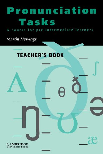 9780521386104: Pronunciation Tasks Teacher's book: A Course for Pre-intermediate Learners