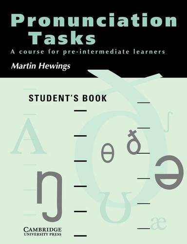 9780521386111: Pronunciation Tasks Student's book: A Course for Pre-intermediate Learners