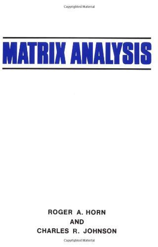 9780521386326: Matrix Analysis
