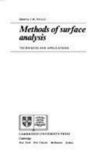 9780521386906: Methods of Surface Analysis: Techniques and Applications