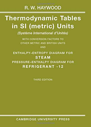 9780521386937: Thermodynamic Tables in SI (Metric) Units
