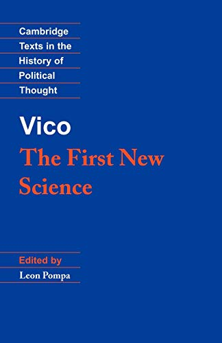 9780521387262: Vico: The First New Science (Cambridge Texts in the History of Political Thought)