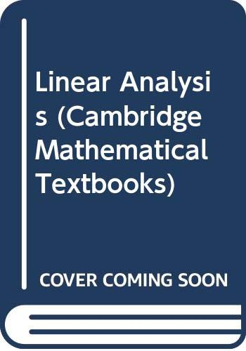 Linear Analysis An Introductory Course: Bollobas, Bela