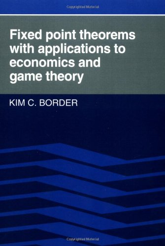 9780521388085: Fixed Point Theorems with Applications to Economics and Game Theory