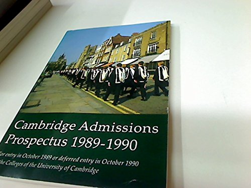 Cambridge University Handbook 1989 - 1990.: Cambridge University