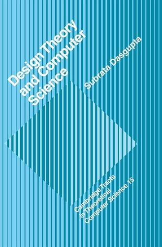 9780521390217: Design Theory and Computer Science Hardback (Cambridge Tracts in Theoretical Computer Science)