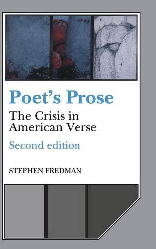 9780521390989: Poet's Prose: The Crisis in American Verse