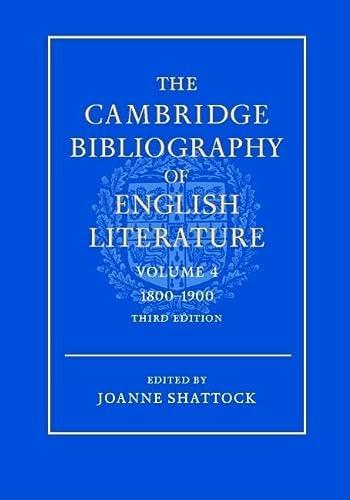 The Cambridge Bibliography of English Literature: Volume 4, 1800-1900: 1800-1900 v. 4 (Hardback)