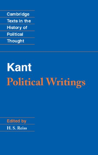 9780521391856: Kant: Political Writings (Cambridge Texts in the History of Political Thought)
