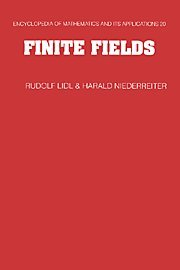 9780521392310: Finite Fields 2nd Edition Hardback (Encyclopedia of Mathematics and its Applications)