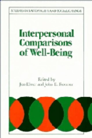 9780521392747: Interpersonal Comparisons of Well-Being
