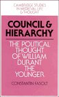 9780521392853: Council and Hierarchy: The Political Thought of William Durant the Younger (Cambridge Studies in Medieval Life and Thought: Fourth Series)