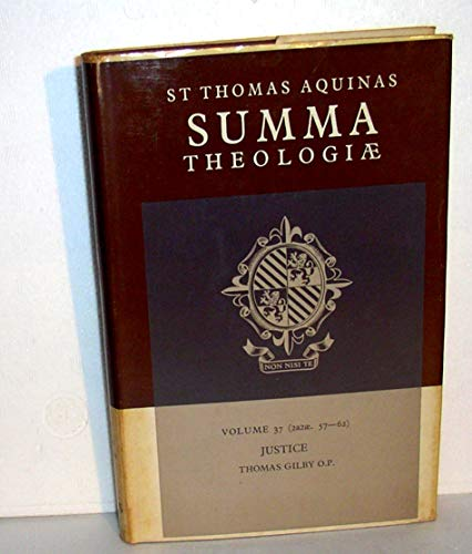 Summa Theologiae: Volume 37, Justice: 2a2ae. 57-62 (9780521393843) by Thomas Aquinas