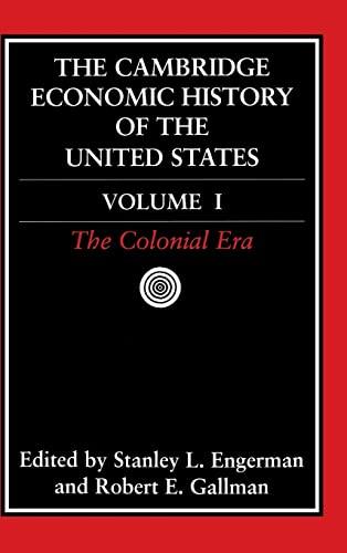 9780521394420: The Cambridge Economic History of the United States: Volume 1