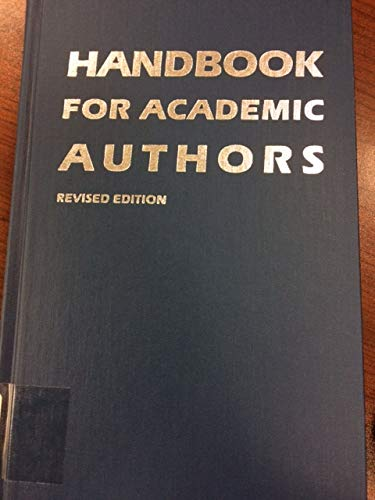 9780521394949: Handbook for Academic Authors