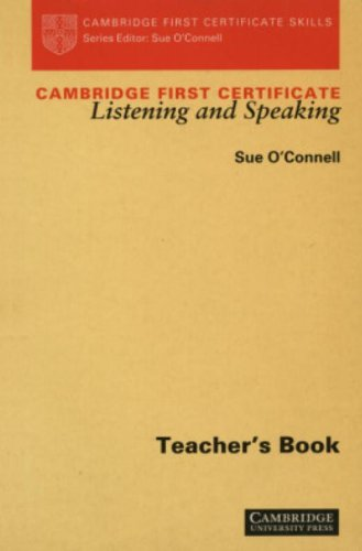 9780521396967: Cambridge First Certificate Listening and Speaking Teacher's book