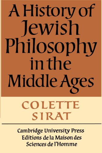 9780521397278: A History of Jewish Philosophy in the Middle Ages