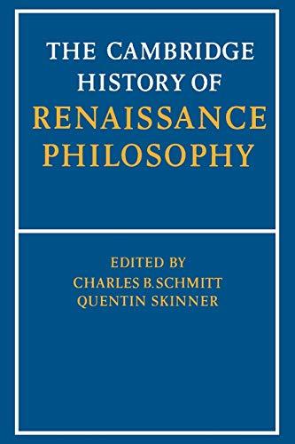9780521397483: The Cambridge History of Renaissance Philosophy