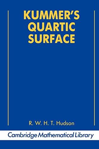 9780521397902: Kummer's Quartic Surface (Cambridge Mathematical Library)