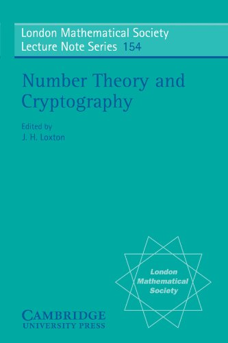 9780521398770: Number Theory and Cryptography (London Mathematical Society Lecture Note Series)