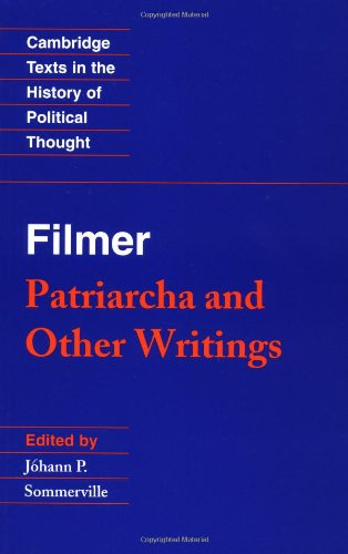 9780521399036: Patriarcha and Other Writings
