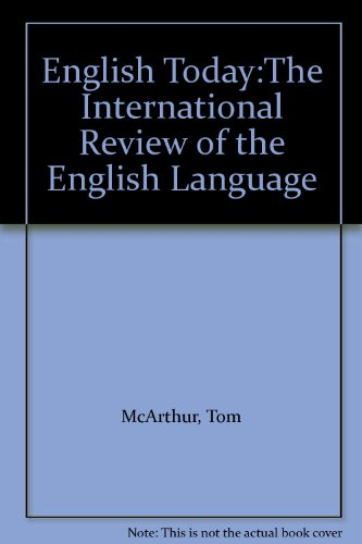 English Today:The International Review of the English Language (0521399076) by McArthur, Tom